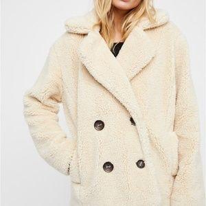 Free People Teddy Coat in Ivory